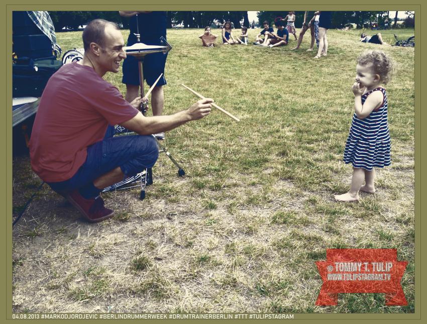 04.08.2013 #Markodjordjevic #BerlinDrummerweek #drumtrainerberlin #TTT #Tulipstagram