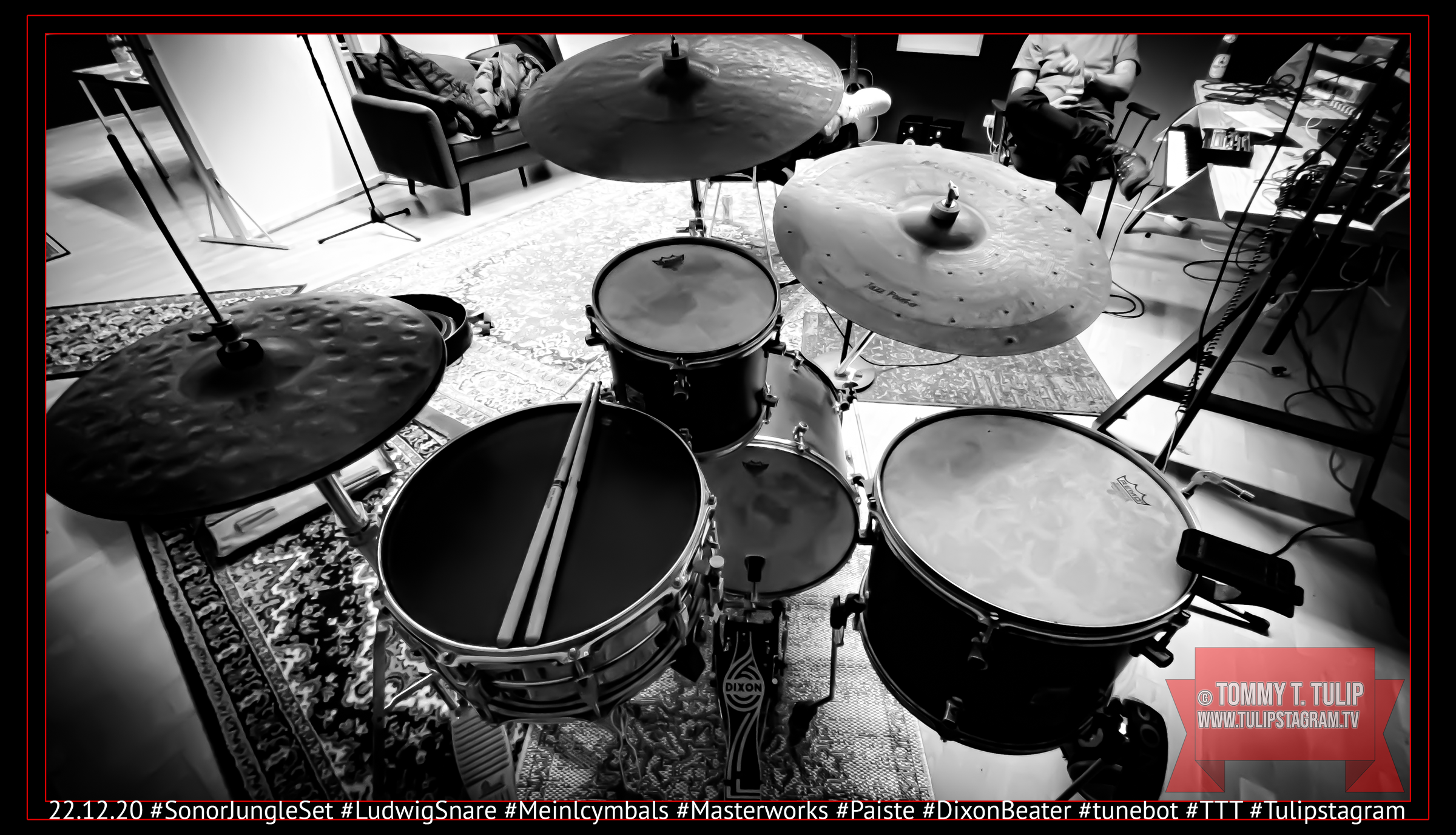 22.12.20 Drum Recordings #SonorJungleSet #LudwigSnare #Meinlcymbals #Masterworks #Paiste #Dixonbeater #tunebot #TTT #Tulipstagram