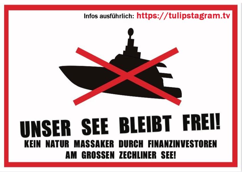 Unser See bleibt frei! Kein Natur Massaker durch Finanzinvestoren am Großen Zechliner See! #Banner #tulipstagramTV #TTT